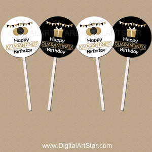 50th Birthday Cupcake Toppers Download for Quarantine Birthday Party