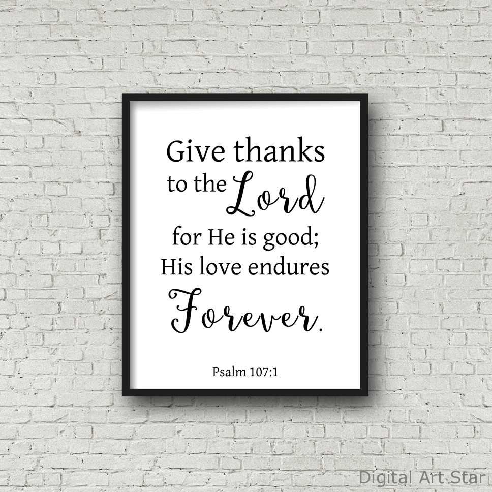 Black and White Scripture Wall Art Printable