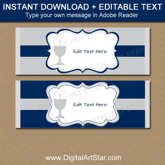 Printable Candy Bar Wrappers, Chocolate Bar Labels | Digital Art Star