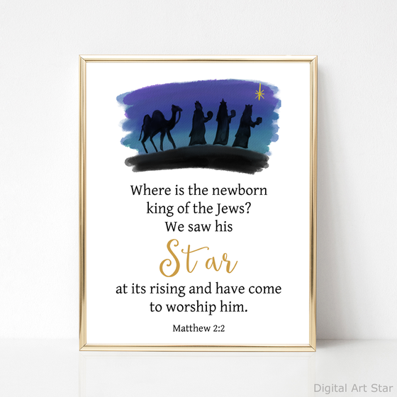 Wise Men Christmas Printable Art