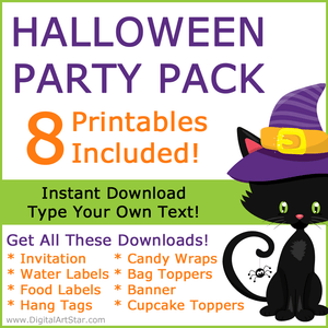 Cute Black Cat Halloween Decorations and Party Supplies