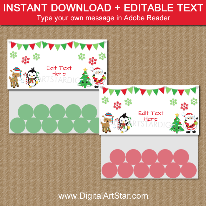 photo relating to Printable Bag Toppers referred to as Lovable Xmas Sweet Bag Toppers Printable