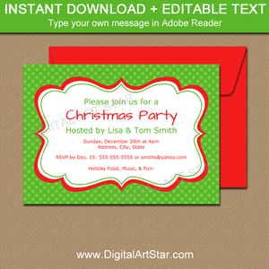 Digital Christmas Invitation Template