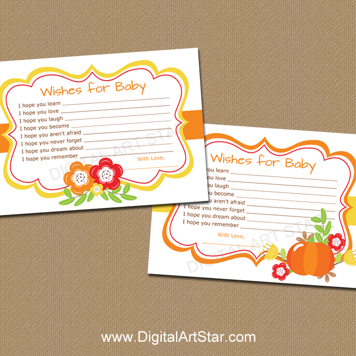 Fall Baby Shower Wishes For Baby Digital Art Star