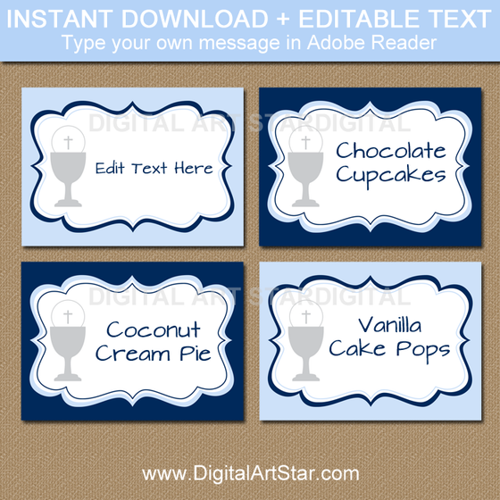 Instant Download First Communion Labels