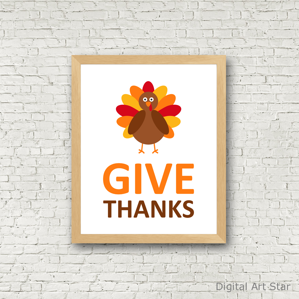 photograph about Give Thanks Printable called Provide Due Turkey Printable Artwork