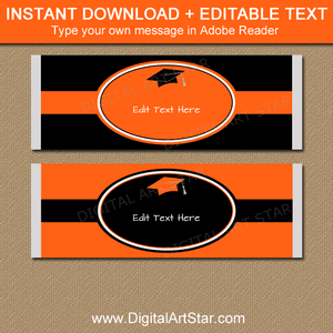 Instant Download Graduation Candy Bar Wrappers
