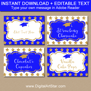 Instant Download Graduation Labels with Editable Text