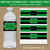 Green and Black Water Bottle Labels for Birthday Party