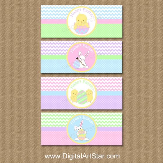 Happy Easter Napkin Wraps Printable