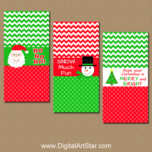 Holiday Candy Bar Wrappers