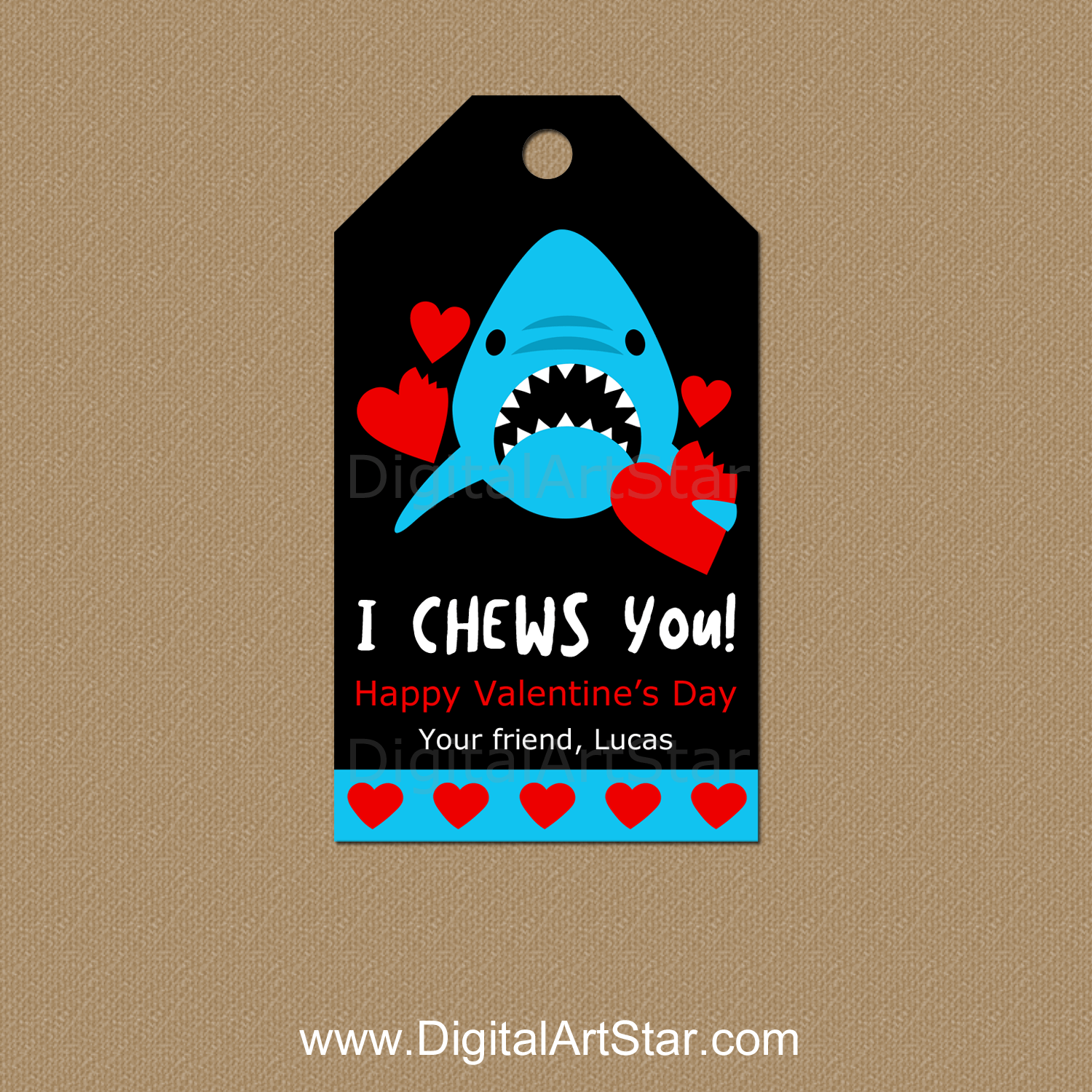 I Chews You Valentine Printable Tags Personalized