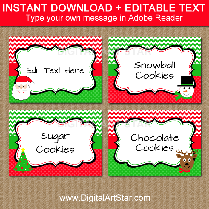 christmas tree labels