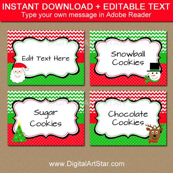 Kids Christmas Labels by Digital Art Star