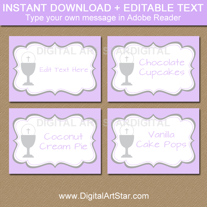 Instant Download Label First Communion Labels