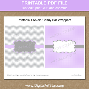 Printable Candy Bar Wrappers for Girl Baby Shower Favors
