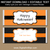 Orange and Black Chocolate Bar Wrapper Template