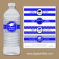 Personalized Graduation Water Bottle Labels - Royal Blue and White