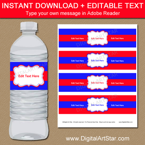 Personalized Water Bottle Labels for Family Reunion, Birthday