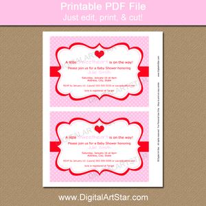 Pink Valentine Party Invitation