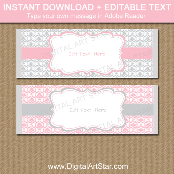 graphic regarding Free Printable Baby Shower Candy Bar Wrappers identified as Printable Sweet Bar Wrappers, Chocolate Bar Labels Electronic