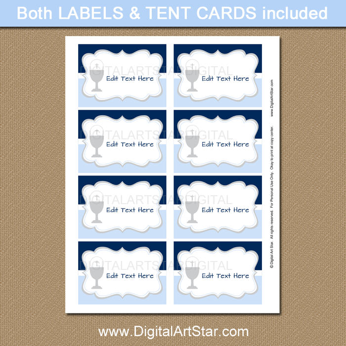 First Holy Communion Labels Instant Download