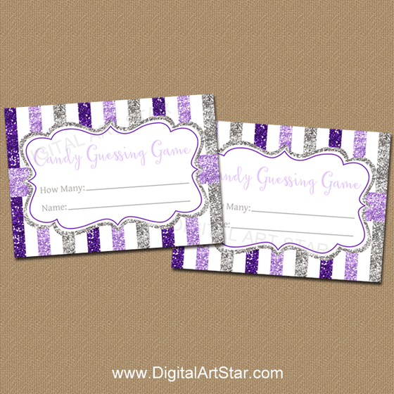 Printable Purple Candy Guessing Game