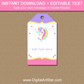 Printable Unicorn Tags - Unicorn Thank You Tags