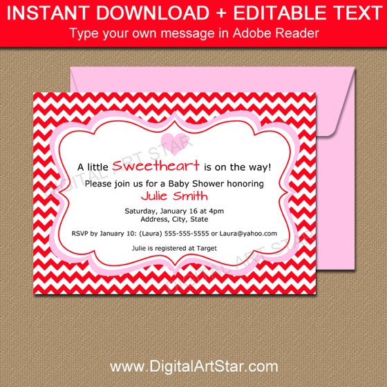 Printable Valentine Invitation Template