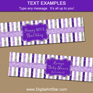 Baby Shower Water Bottle Labels, Birthday Water Bottle Labels