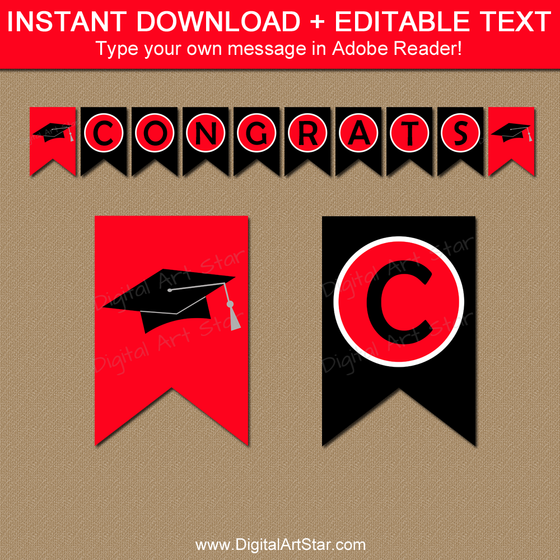 Instant Download Graduation Decorations