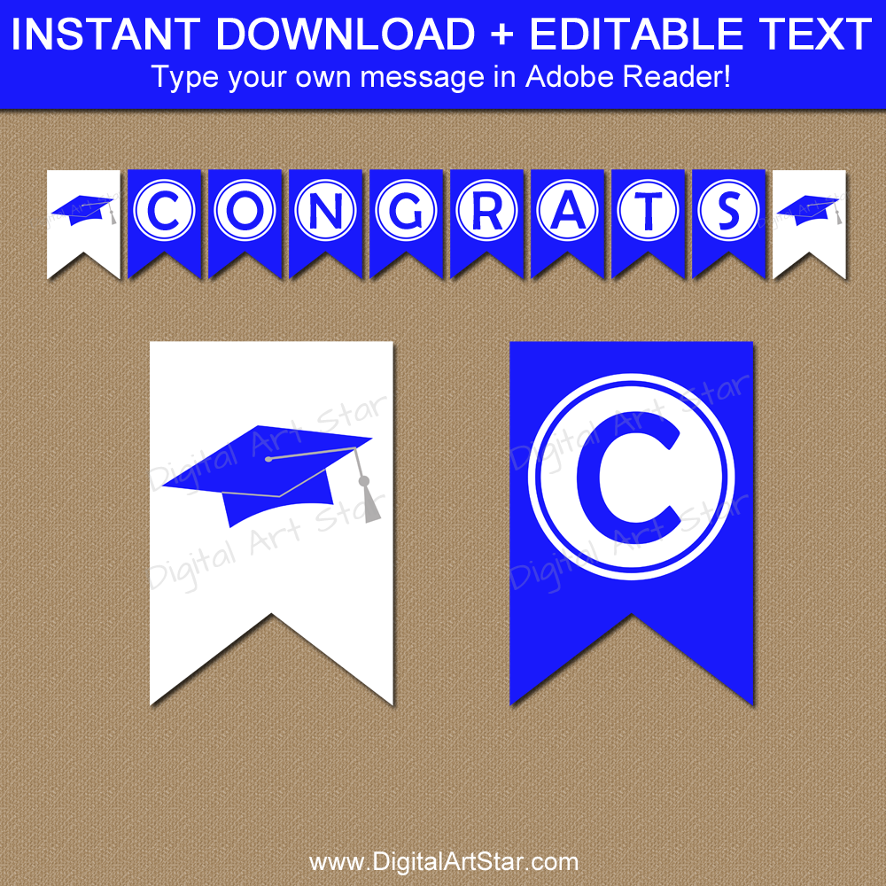 Editable Graduation Banner Template