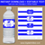Royal Blue Graduation Water Bottle Stickers