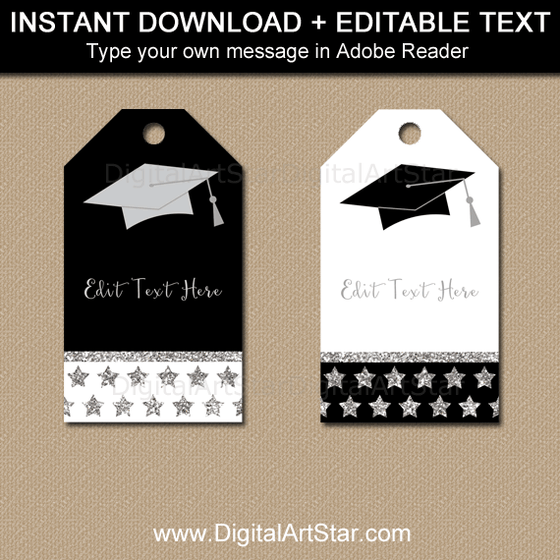 Instant Download Graduation Party Favor Tags