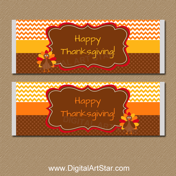 Thanksgiving Candy Wrappers Instant Download