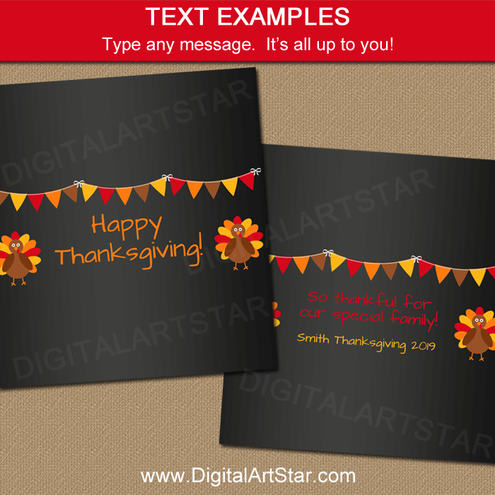 Thanksgiving Party Favors Wording Ideas