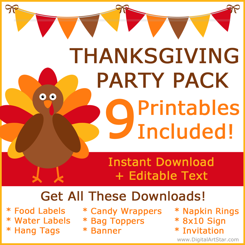 Thanksgiving Party Pack Printables