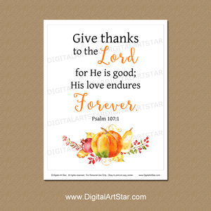 Thanksgiving Bible Verse Wall Hanging