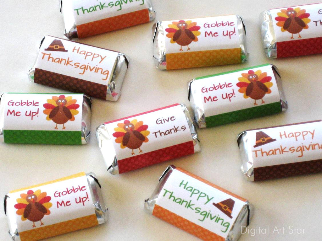 Thanksgiving Favors - Chocolate Bar Wrappers