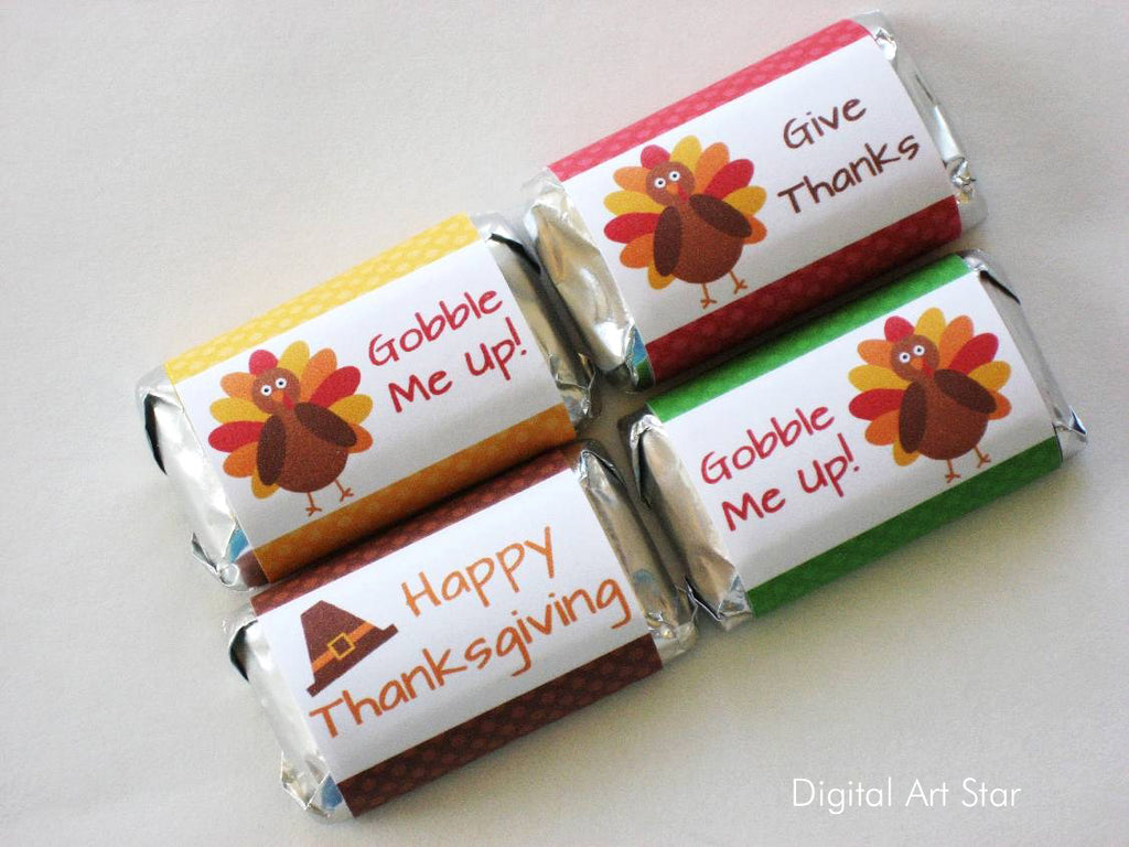 Thanksgiving Candy Wrappers