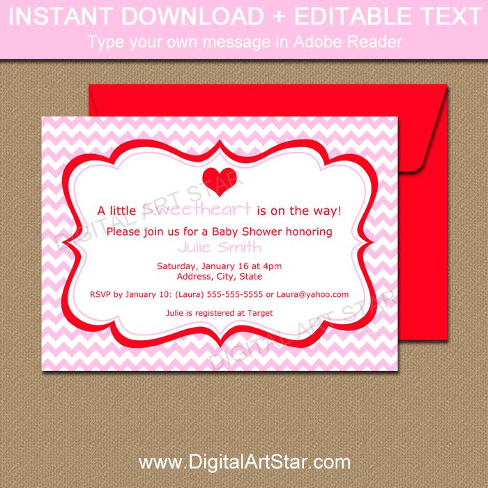 Valentine Invitation Printable