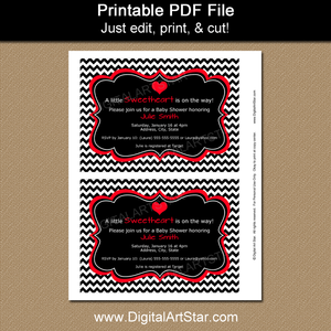 Printable Valentine Party Invites