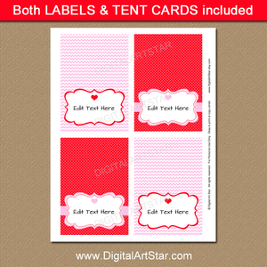 Valentine's Day Tent Cards
