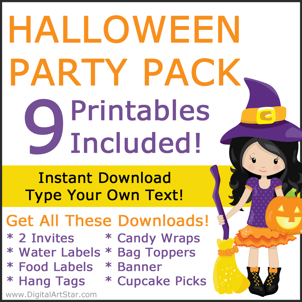 Witch Themed Halloween Decorations Party Pack