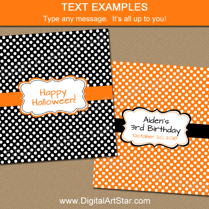 Candy Bar Labels Editable Template