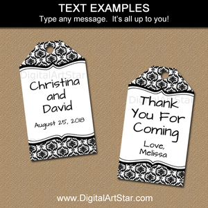 Editable Black and White Gift Tag Template