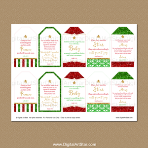 Christmas Gift Tag Download with Bible Verses
