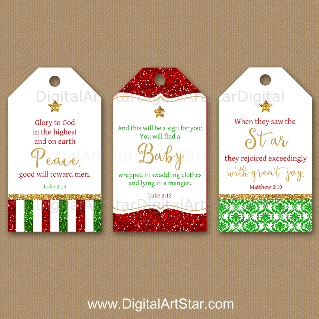 Christmas Bible Verse Tags