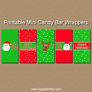 Christmas Stocking Stuffer Idea - Mini Candy Wrappers