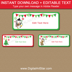 Cute Christmas Address Labels 30 Per Sheet